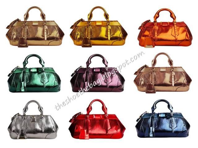 Burberry Prorsum Metallic çantalar