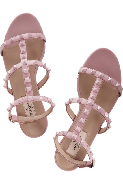 pink studded sandals