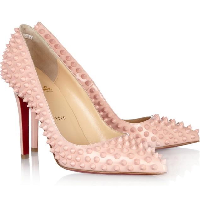pink studded stiletto