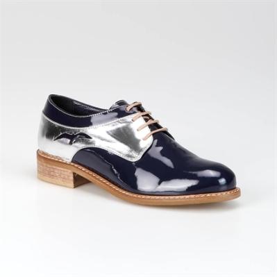 navy silver oxford shoe by Hotiç