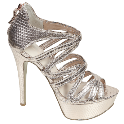 metallic gold platform sandal by nine west