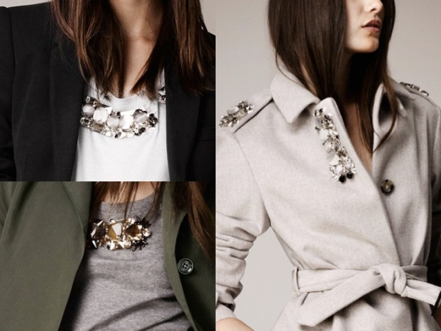 Burberry resort 2014 stone details on clothes