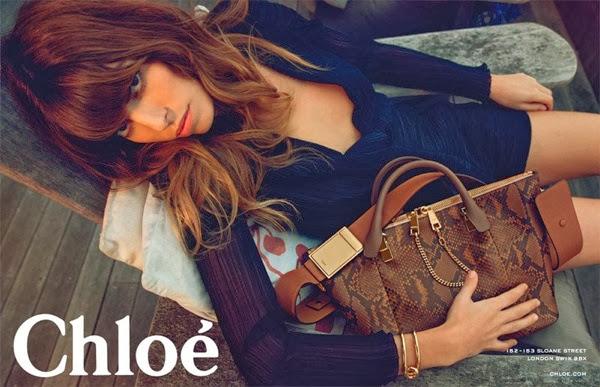 Chloe spring summer 2014 ad campaign baylee bag