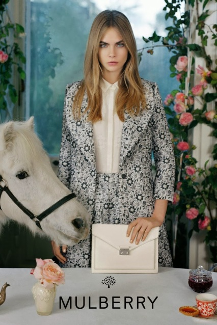 mulberry spring summer 2014 ad campaign kensal bag white ivory cream