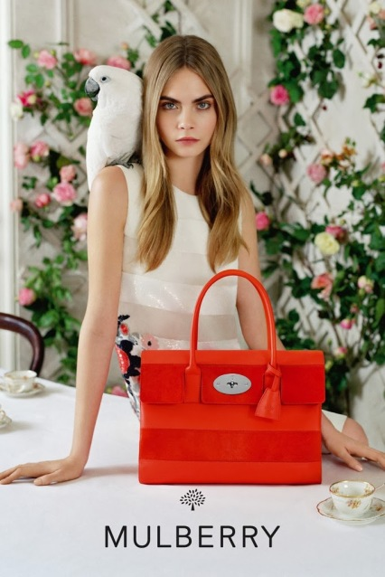 mulberry spring summer ad campaign bayswater bag red orange
