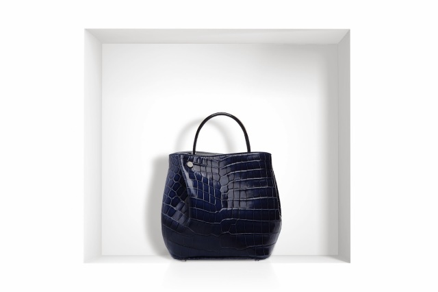 Christian Dior Diorific Bag navy crocodile