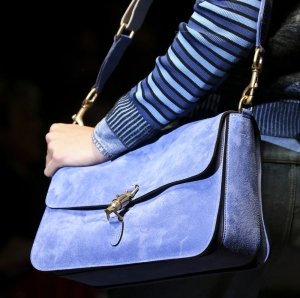 Gucci-Spring-2015-blue-suede-bag