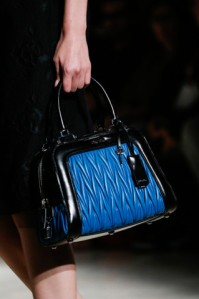 miu miu spring summer 2015 blue leather bag